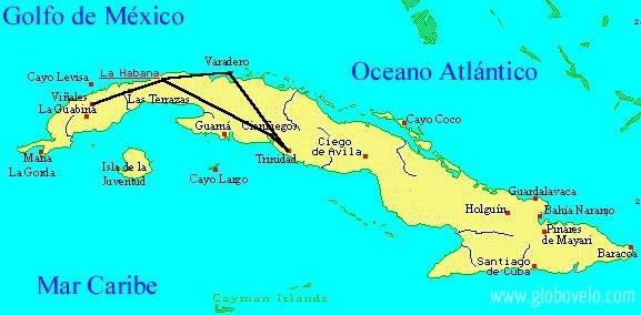 Amérique centrale, l'île de Cuba